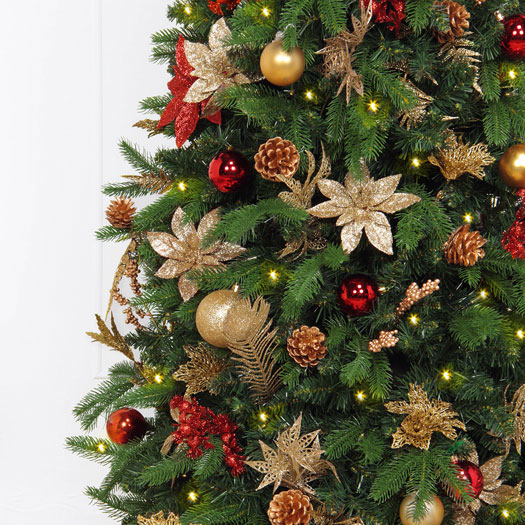 beautifully decorated - Pre Decorated Artificial Christmas Trees